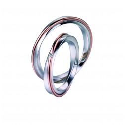 Trouwringen bi color 1 diamant